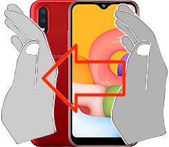 Captura de tela ou  Samsung Galaxy A01