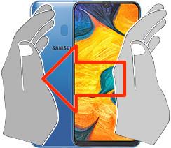 Captura de tela ou  Samsung Galaxy A30