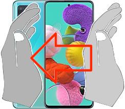 Captura de tela ou  Samsung Galaxy A51