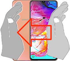 Captura de tela ou  Samsung Galaxy A70