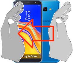 Captura de tela ou  Samsung Galaxy J4 Core